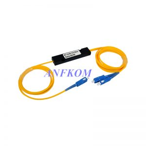 1310/1490/1550nm Three Window Fiber Optic 1x2 FBT Splitter