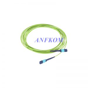 OM5+12 Fiber Interconnect Plenum MPO Female to MPO Female