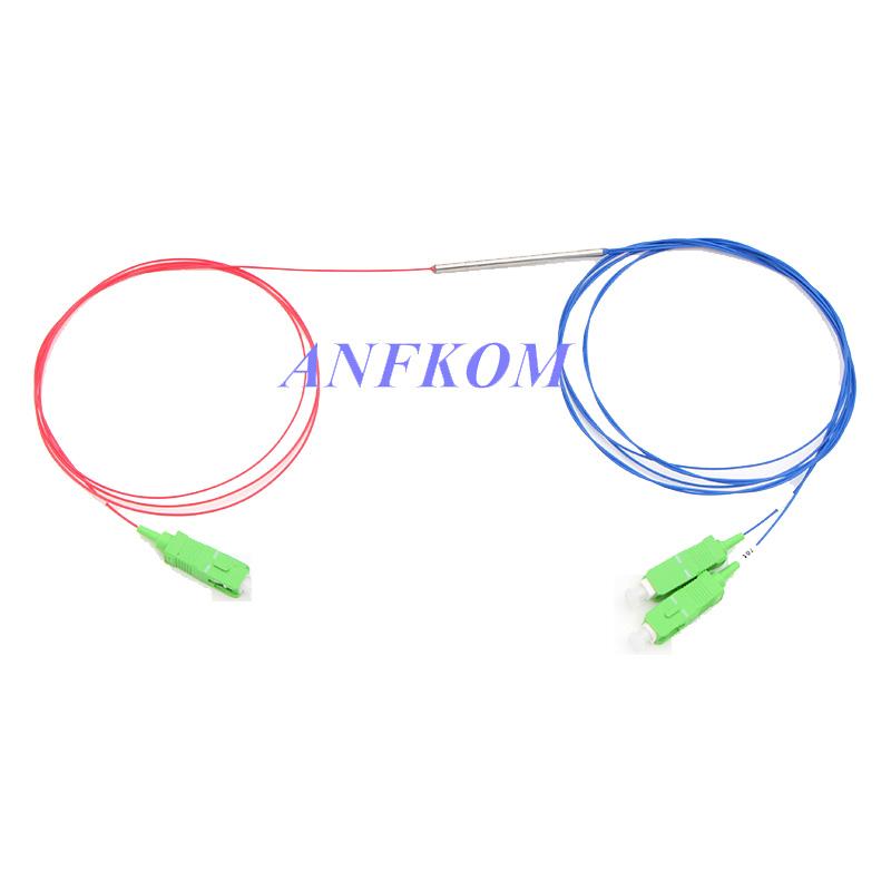 1X2 FBT Coupler mini steel tube Split Ratio 50/50 to 99/1