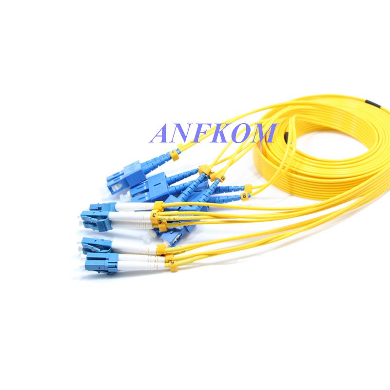 8 cores fiber optic ribbon cable patch cord