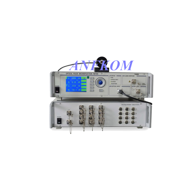 Bench-top 12 cores or 24 Chanels MPO/MTP Insertion Loss & Return Loss Tester