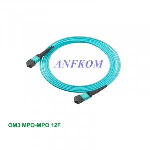 OM3 MPO/MTP to MPO/MTP Fiber Patch Cord 12 Fibers