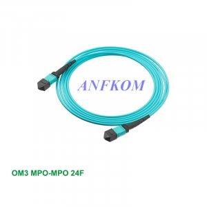 OM3 MPO/MTP to MPO/MTP Fiber Patch Cord 24 Fibers