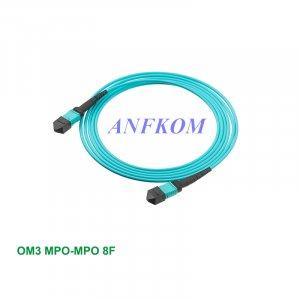 OM3 MPO/MTP to MPO/MTP Fiber Patch Cord 8 Fibers