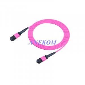 OM4 MPO/MTP to MPO/MTP Fiber Patch Cord 8 Fibers
