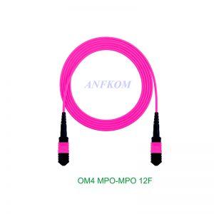 OM4 MPO/MTP to MPO/MTP Fiber Patch Cord 12 Fibers
