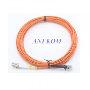 MTRJ to LC Multimode fiber optic patch cord