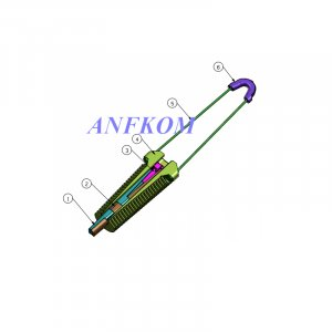 Anchor clamp for ADSS cable